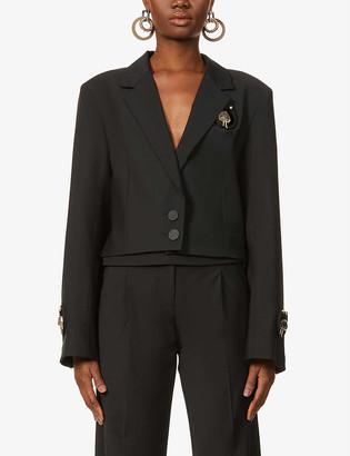 CHRISTOPHER ESBER Cropped single-breasted wool-blend jacket