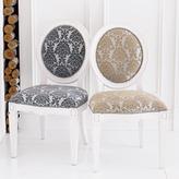 Silk Leaf Oval Chair - Silver/Pewter