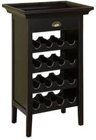 Powell Black with Merlot Rub-through Wine Cabinet