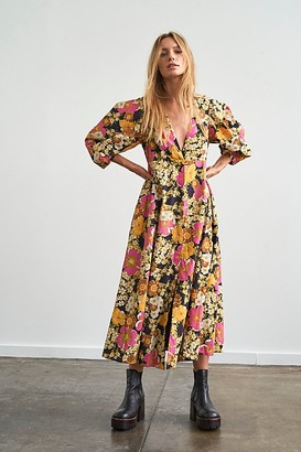 Free People Lydia Printed Midi Dress