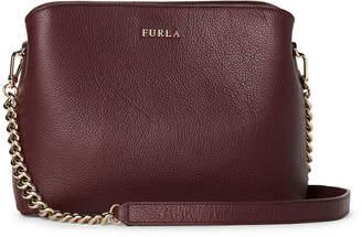 Furla Burgundy Tessa Leather Shoulder Bag
