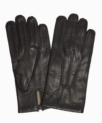 Cambridge Silversmiths Dents Gloves Dents Cashmere Lined Deerskin Gloves in Black
