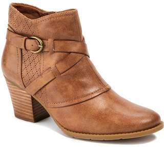 Bare Traps BareTraps Launa Stacked Heel Perforated Bootie