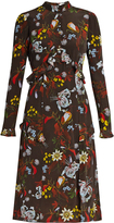 Erdem Flora Bacall Night floral-print silk dress