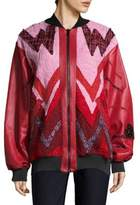 Heartbeat Leather Bomber Jacket