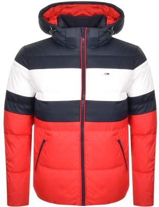 Tommy Jeans Rugby Stripe Puffer Jacket Navy