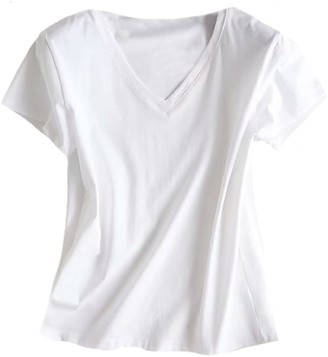 Goodnight Macaroon 'Joey' Basic V-Neck T-Shirt (2 Colors)