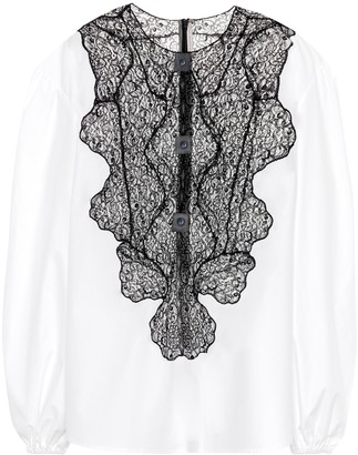 Christopher Kane Cotton and lace shirt