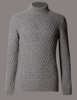 Marks and Spencer Wool Rich Textured Long Sleeve Jumper
