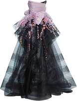 Marchesa Sculpted Embellished Ball Gown