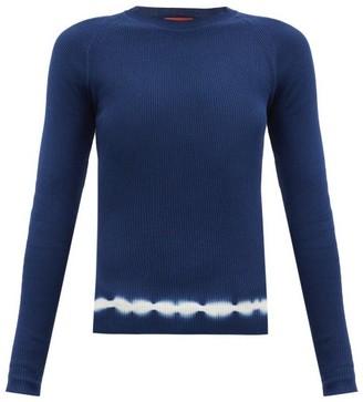 Altuzarra Kazuko Shibori-dye Hem Cotton Sweater - Blue