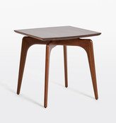 Rejuvenation Basin Walnut Side Table