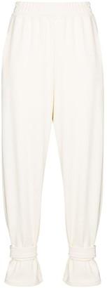Frankie Shop Tab-Cuff Cotton Track Pants