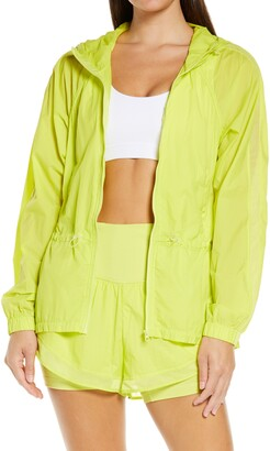 Zella Fresh Air Hooded Lightweight Nylon Jacket