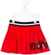 Moschino Kids - logo print pleated skirt - kids - Cotton/Spandex/Elastane - 4 yrs