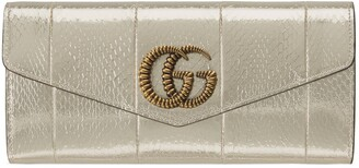 Gucci Broadway snakeskin clutch with Double G