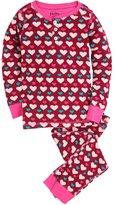 Hatley Girl's Lots of Hearts Henley Pajama Set