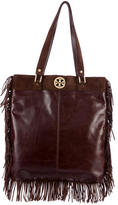 Tory Burch Fringe Leather & Suede Hobo