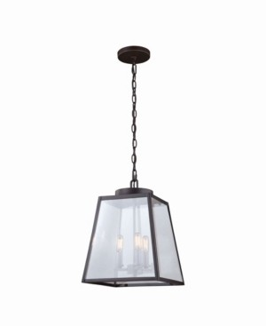 Vaxcel Grant Lantern Clear Glass Rectangular Pendant Light