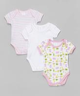 SpaSilk Pink Hippo Bodysuit Set