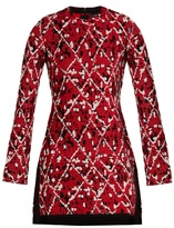 Proenza Schouler Diamond-jacquard fringed-hem dress
