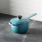 Crate & Barrel Le Creuset ® Signature 1.75-qt. Caribbean Saucepan with Lid