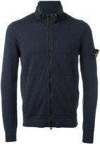 Stone Island high neck zipped sweatshirt - men - Cotton/Polyamide/Polyurethane Resin - L