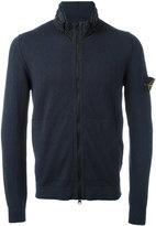 Stone Island high neck zipped sweatshirt - men - Cotton/Polyamide/Polyurethane Resin - M