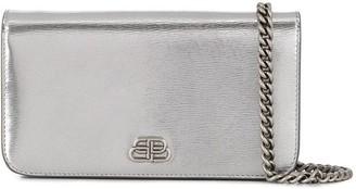Balenciaga Logo-Plaque Phone-Pouch Mini Bag 10cmx17cm