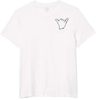 J.Crew Shaka Pocket Short Sleeve Graphic Tee (White) Men's Clothing