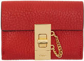Chloé Red Mini Drew Wallet