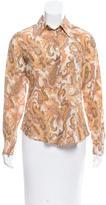 Loro Piana Silk Floral Print Top