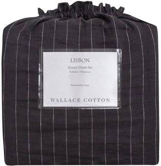 Wallace Cotton Lisbon Stonewashed Linen Duvet Set Superking