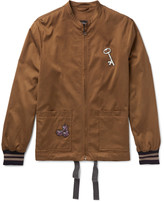 Lanvin - Appliquéd Brushed-satin Bomber Jacket