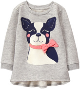 Gymboree Light Gray French Bulldog Ruffle-Accent Tunic - Infant & Toddler