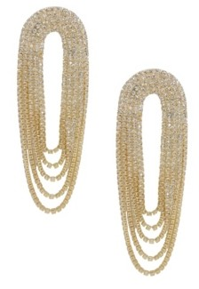 Ettika Crystal Drape Fringe Earrings