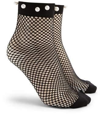 Forever 21 Fishnet Ankle Socks