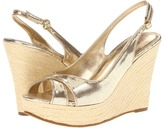 Lilly Pulitzer Picture Perfect Wedge (Gold Metallic) - Footwear