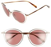 Oliver Peoples Women's 'Gwynne' 62Mm Retro Sunglasses - Rose Gold/ Clear