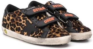 Golden Goose Kids Old School leopard print sneakers