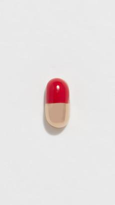 Alison Lou 14k Tiny Pill Single Earring