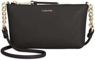 Calvin Klein Hayden Saffiano Leather Chain Crossbody