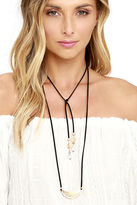 LuLu*s Carefully Chosen Gold and Black Necklace