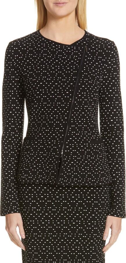 Emporio Armani Polka Dot Asymmetrical Jacket