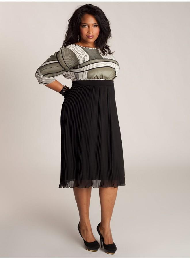 IGIGI Cece Plisse Plus Size Dress