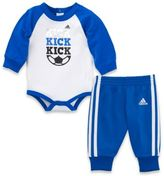 "adidas 2-Piece ""Kick Kick Kick"" Bodyshirt and Pant Set in Blue"