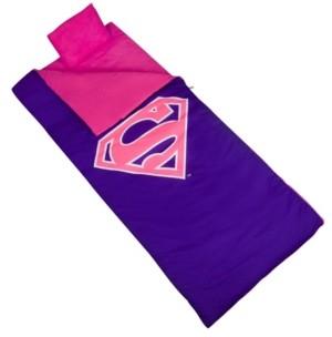 Wildkin Unisex Superman Pink Shield Sleeping Bag