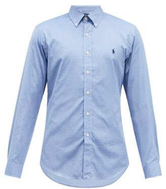 Polo Ralph Lauren Slim-fit Cotton Shirt - Mens - Light Blue