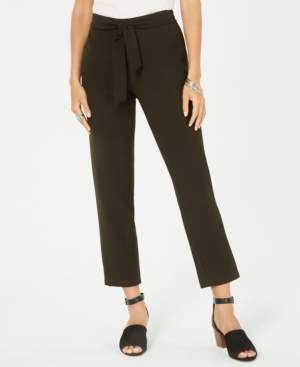 Style&Co. Style & Co Tie-Waist Tapered Pants, Created for Macy's