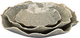 Jamie Young Set of 3 Tide Pool Bowls - Gray